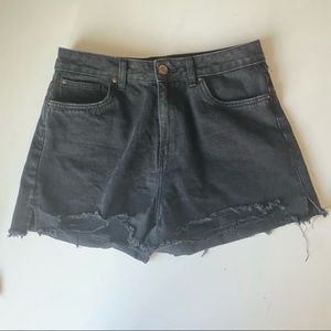 SWS black distressed mom high rise jeans size 9